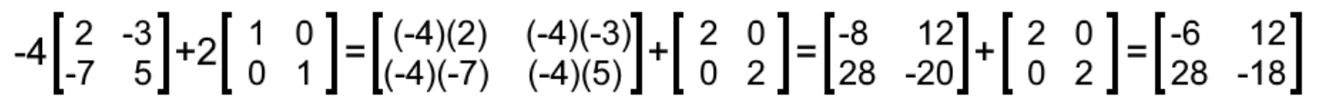 Equation 12: Addition of two scalar matrix multiplications