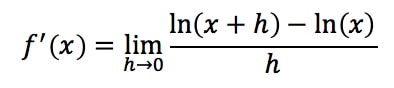 Equation 13: Proof of Derivative of lnx pt.4