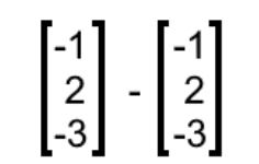 Equation 13: Subtraction of two equal column vectors