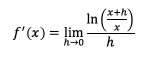 Equation 14: Proof of Derivative of lnx pt.5