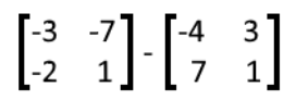 Equation 14: Subtraction of two matrices