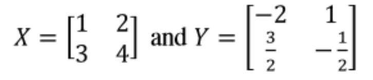 Equation 15: Matrices X and Y