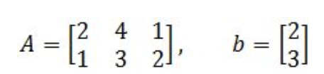 Equation 15: Matrix A and column vector b
