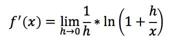 Equation 15: Proof of Derivative of lnx pt.6