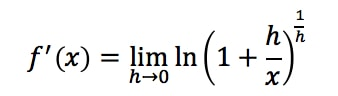 Equation 16: Proof of Derivative of lnx pt.7