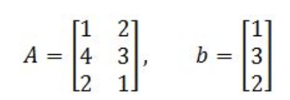 Equation 18: Matrix A and column vector b
