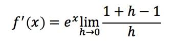 Equation 19: Derivative of e^x pt.6
