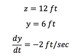Equation 2: related rates ladder problem pt.1