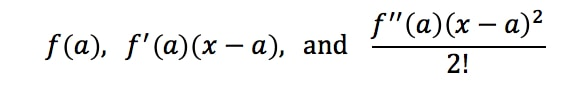 Equation 2: Taylor Expansion terms of e^x pt.1