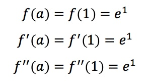 Equation 2: Taylor Expansion terms of e^x pt.4