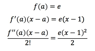 Equation 2: Taylor Expansion terms of e^x pt.5