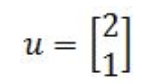 Equation 21: Vector u