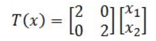 Equation 22: Linear transformation of x