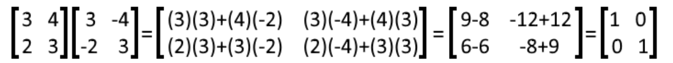 Equation 22: Multiplying matrices E and F