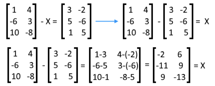 Equation 23: Solve for X in the matrix equation (part 2)