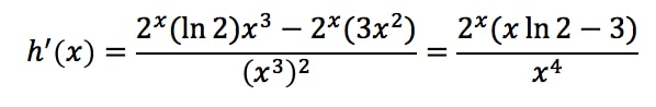 Equation 24: Derivative of a fraction