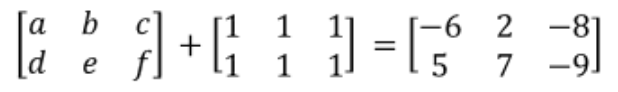Equation 24: Finding the values of the elements in the left-most matrix