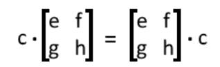 Equation 3: Commutative property of the scalar multiplication