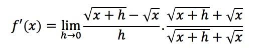 Equation 3: Derivative of square root pt.2