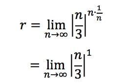 Equation 3: Divergence Root test pt. 5