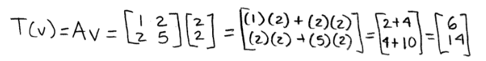 Equation 3: Linear transformation of v