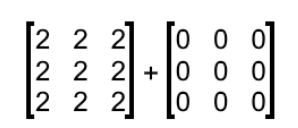 Equation 4: Addition with a zero matrix