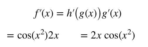 Equation 4: Derivative of sinx^2 pt.4