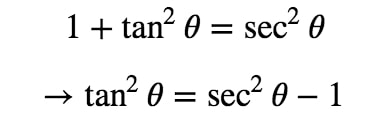 Equation 4: Substituting with asec pt.2