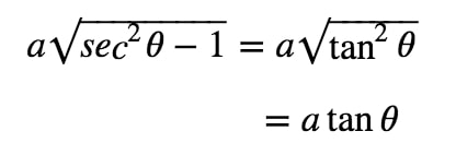 Equation 4: Substituting with asec pt.3