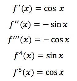 Equation 4: Taylor Series of sinx pt.1