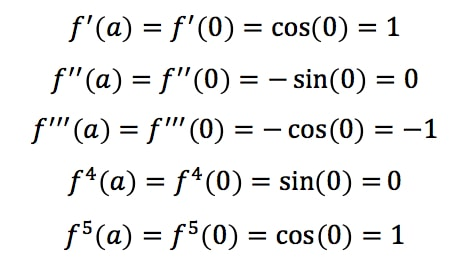 Equation 4: Taylor Series of sinx pt.2