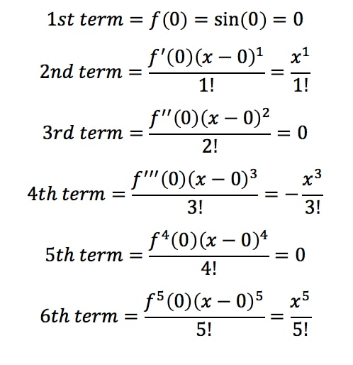 Equation 4: Taylor Series of sinx pt.3