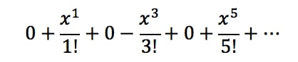 Equation 4: Taylor Series of sinx pt.4