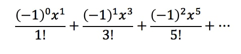 Equation 4: Taylor Series of sinx pt.5