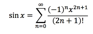 Equation 4: Taylor Series of sinx pt.6