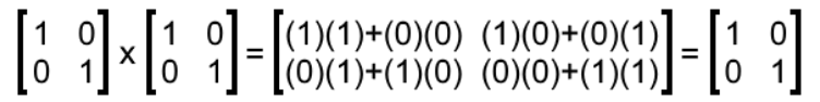 Equation 4: The identity matrix as inverse multiplicative of itself.