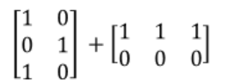 Equation 5: Can you add these two matrices together? (case 1)