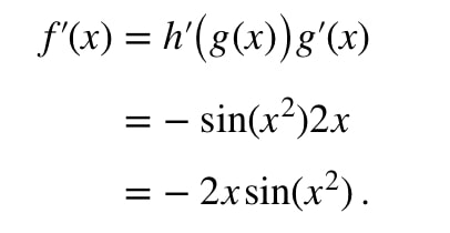 Equation 5: Derivative of cosx^2 pt.4