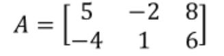 Equation 5: Matrix A