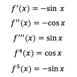 Equation 5: Taylor Series of cosx pt.1