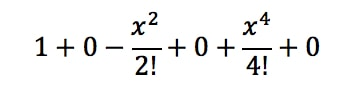 Equation 5: Taylor Series of cosx pt.4