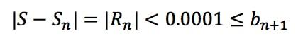 Equation 6: Harmonic Alternating Series Error pt.3