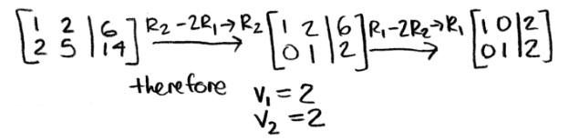 Equation 6: Solving for vector v