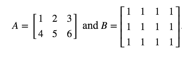 Equation 7: Defined Matrix example pt.1
