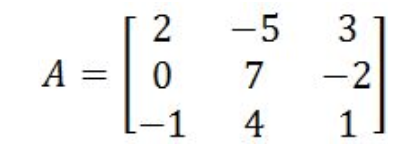 Equation 7: Matrix A