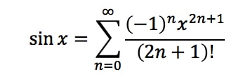 Equation 7: Taylor Series of sinx/x pt.1