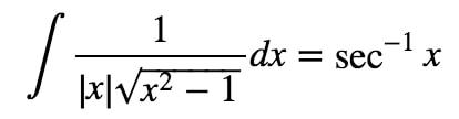 Equation 7: Trig Substitution of inverse sec pt.2