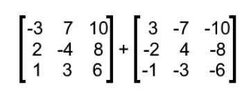 Equation 8: Addition of opposite matrices