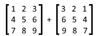 Equation 8: Addition of two matrices
