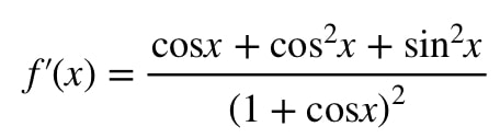 Equation 8: Derivative slope of function pt.7